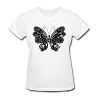 Butterfly With Swirls - Women's - white
