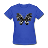 Butterfly With Swirls - Women's - royal blue