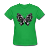 Butterfly With Swirls - Women's - bright green
