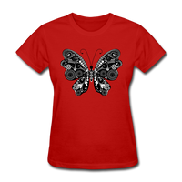 Butterfly With Swirls - Women's - red