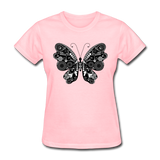Butterfly With Swirls - Women's - pink