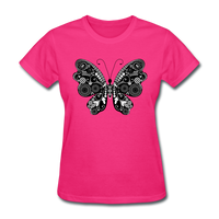 Butterfly With Swirls - Women's - fuchsia