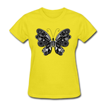 Butterfly With Swirls - Women's - yellow