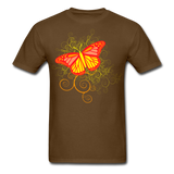 Butterfly Swirl Background - Unisex - brown