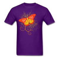 Butterfly Swirl Background - Unisex - purple