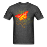 Butterfly Swirl Background - Unisex - heather black