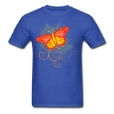 Butterfly Swirl Background - Unisex - royal blue