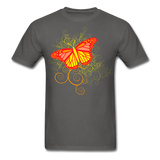 Butterfly Swirl Background - Unisex - charcoal