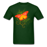 Butterfly Swirl Background - Unisex - forest green