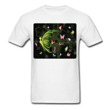 Green Butterfly Collage - Unisex - white