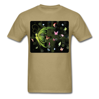 Green Butterfly Collage - Unisex - khaki