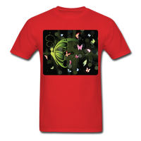 Green Butterfly Collage - Unisex - red