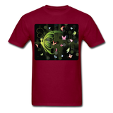 Green Butterfly Collage - Unisex - burgundy