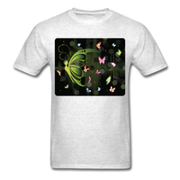Green Butterfly Collage - Unisex - light heather gray