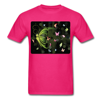 Green Butterfly Collage - Unisex - fuchsia
