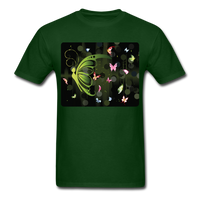 Green Butterfly Collage - Unisex - forest green