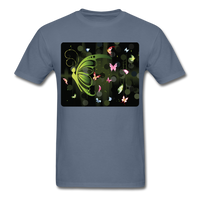 Green Butterfly Collage - Unisex - denim