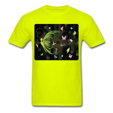 Green Butterfly Collage - Unisex - safety green