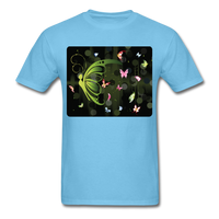 Green Butterfly Collage - Unisex - aquatic blue