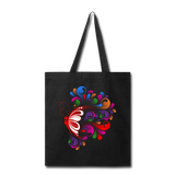 Red Butterfly Swirls - Tote - black