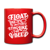 Float Like A Butterfly - Mug2 - red