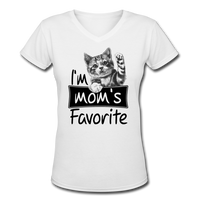 Cat's Mom's Favorite - V-Neck - white