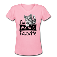 Cat's Mom's Favorite - V-Neck - pink