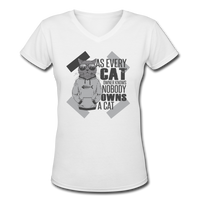Cat Owners Know - V-Neck Women's - white