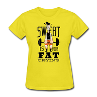 Sweat Fat Crying - Women's - yellow