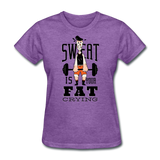 Sweat Fat Crying - Women's - purple heather