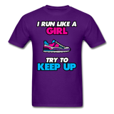 I Run Like A Lady - Unisex - purple