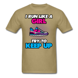 I Run Like A Lady - Unisex - khaki