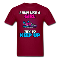 I Run Like A Lady - Unisex - burgundy