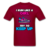 I Run Like A Lady - Unisex - dark red