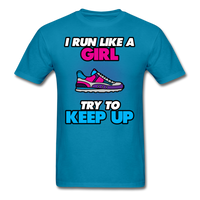 I Run Like A Lady - Unisex - turquoise