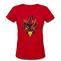 Angry Phoenix - V-Neck Women's - red
