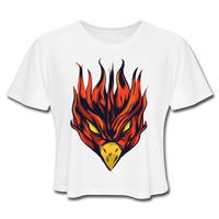Angry Phoenix - Cropped Women's - white