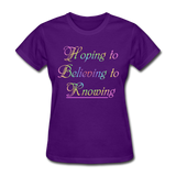 Hoping to Believing - Women's - purple