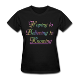 Hoping to Believing - Women's - black