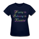 Hoping to Believing - Women's - navy