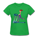 Lady on Treadmill - Ladies - bright green