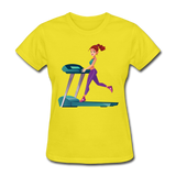 Lady on Treadmill - Ladies - yellow