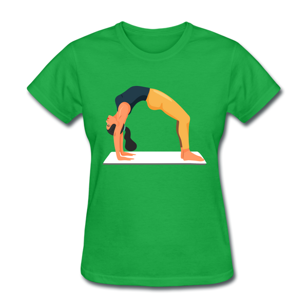 Yoga Back Pose - Ladies - bright green