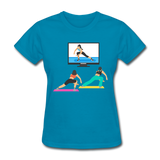 Fitness Side Lunge - Ladies - turquoise