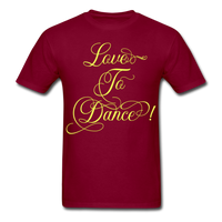 Love to Dance Yellow - Unisex - burgundy