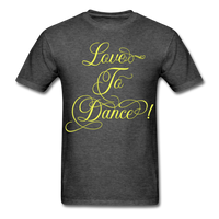 Love to Dance Yellow - Unisex - heather black