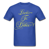 Love to Dance Yellow - Unisex - royal blue