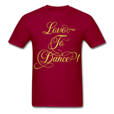 Love to Dance Yellow - Unisex - dark red