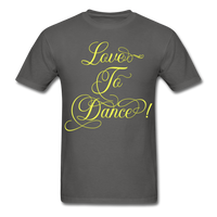 Love to Dance Yellow - Unisex - charcoal
