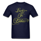 Love to Dance Yellow - Unisex - navy